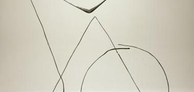 Pierre Gaucher Sans titre 1986 Fer forgé Tige verticale hauteur : 170 cm, Pièce triangulaire : 137 x 120 cm, Pièce en V hauteur : 145 cm, écartement : 225 cm, Cercle : 90 cm de diamètre Photo : Antoine Bouchet