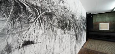 Dessin mural 06 2013 n°2, fusain (c) Klaus Stoeber