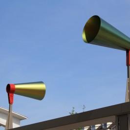 Philippe Lepeut, Syneson, Installation sonore, Place du Marché au Neudorf, 2013 - Crédits photo : E. Schann