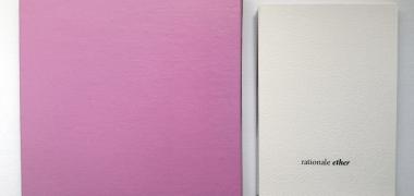 Everyday utensils, 2014 (détail), Peinture acrylique, impressions jet d'encre sur papier, bougie, punaises, boîte en bois artisanale, Dimensions variables, Courtesy de l'artiste