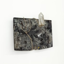 David Douard, Untitled, 2012, plastic, iron, chalk, 80 x 54 cm