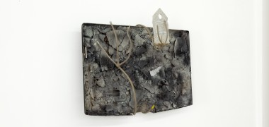 David Douard, Untitled, 2012, plastic, iron, chalk, 80 x 54 cm