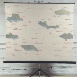 Ana Jotta, Le Bonheur des Tristes, 2008, Ecran, acrylique et feutre, 160 x 129,5 x 16 cm déplié, Pièce unique, Courtesy de l'artiste et gb agency, Paris