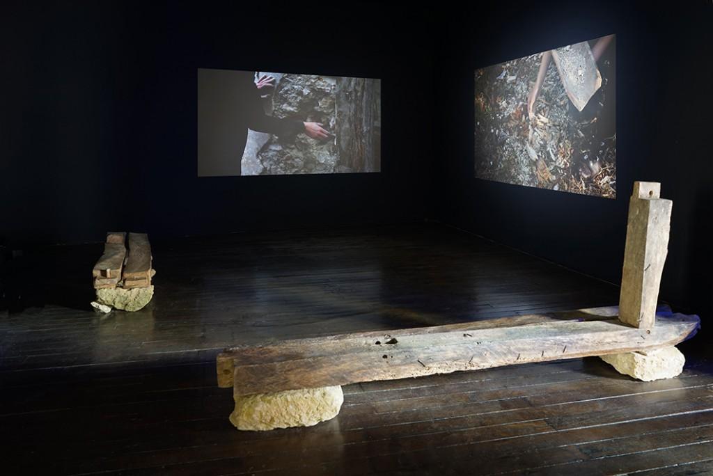 Ultralocal (vue d'exposition), Pauline Bastard, Les États de la Matière, 2013, crédit photo: R.Görgen