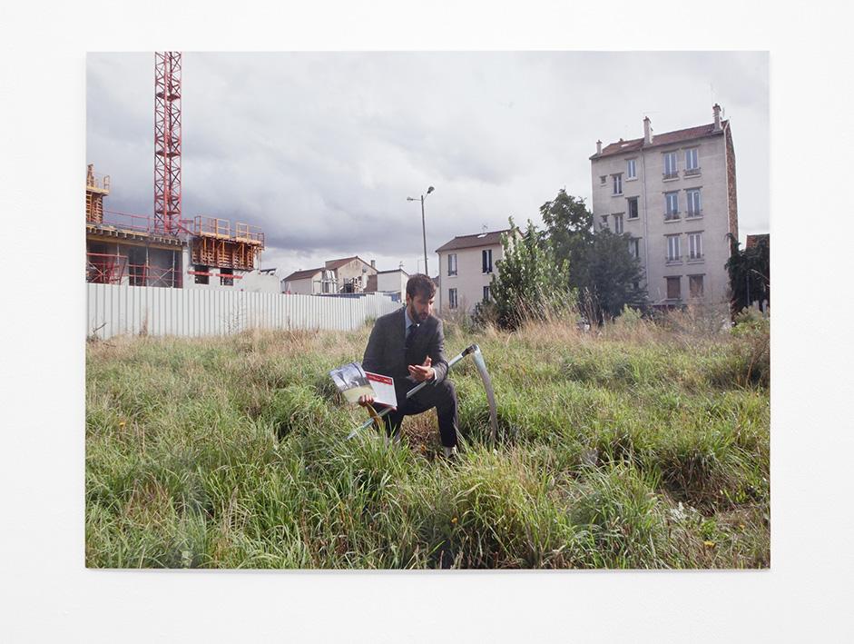 Ultralocal (vue d'exposition), Thierry Boutonnier, Le cycle de la Meule, 2013, crédit photo: R.Görgen