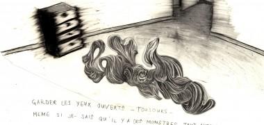 Marc Bauer Dread 2006 Détail d'un ensemble de 10 dessins, Crayon gris et crayon noir sur papier, 10 x (32 x 45 cm) Photo : Klaus Stöber