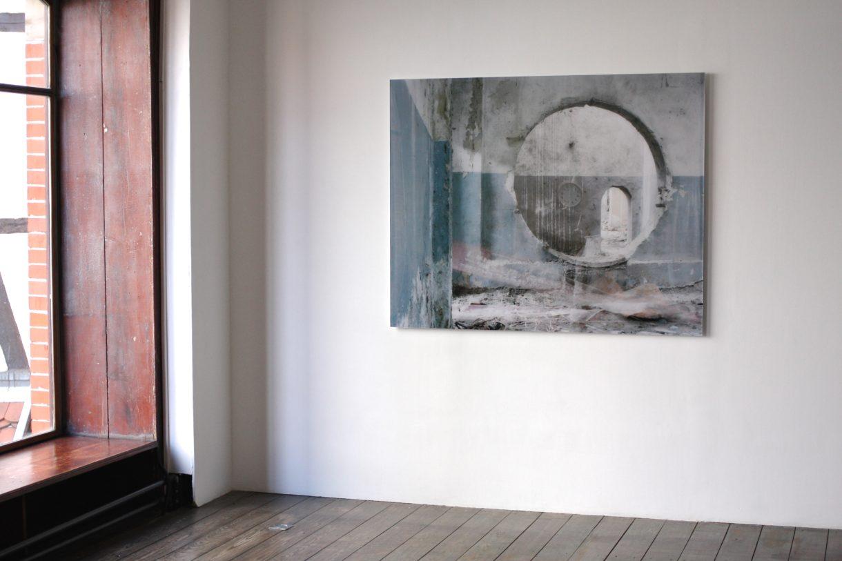 Zeigerlosigkeit, 2017, 150x120cm