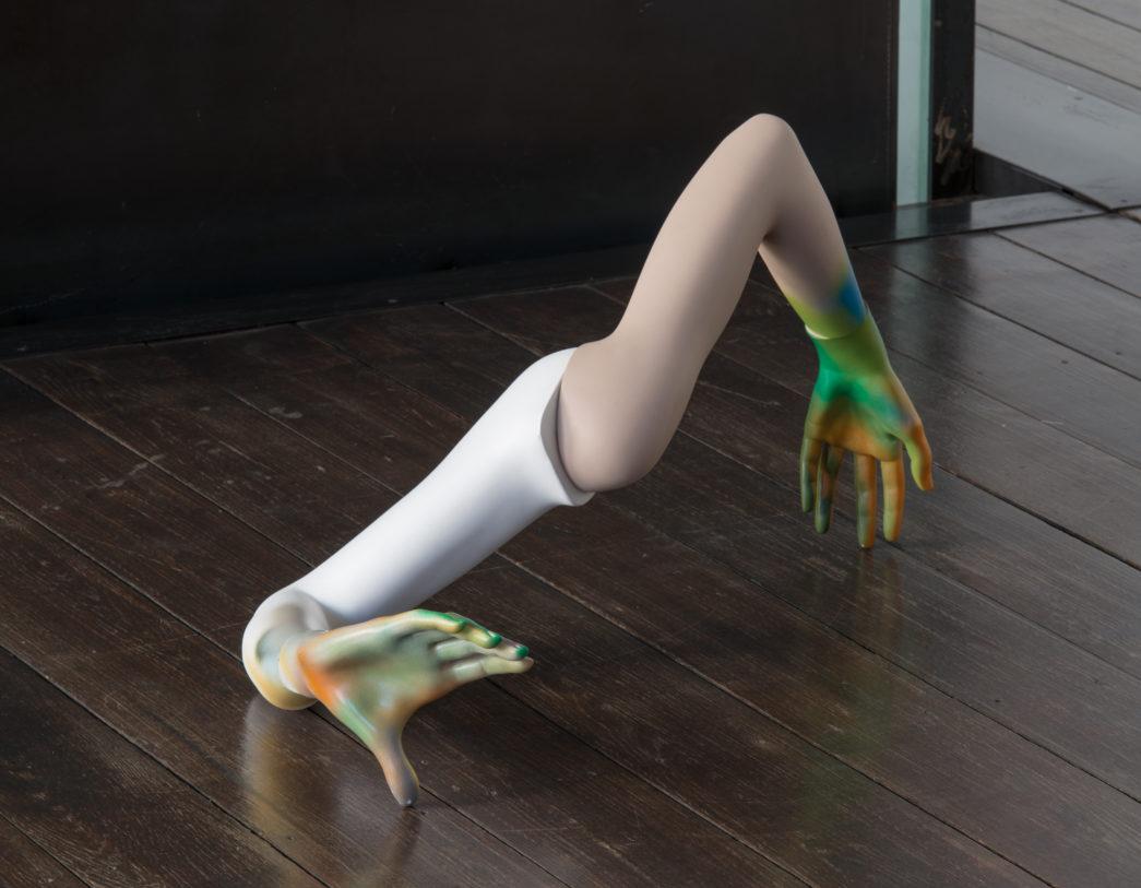 """""""Zones d'influences"""", vue d'exposition, 2018. Clément Rodzielski, """"Sans titre"""", 2011. Collection Frac Champagne-Ardenne."""
