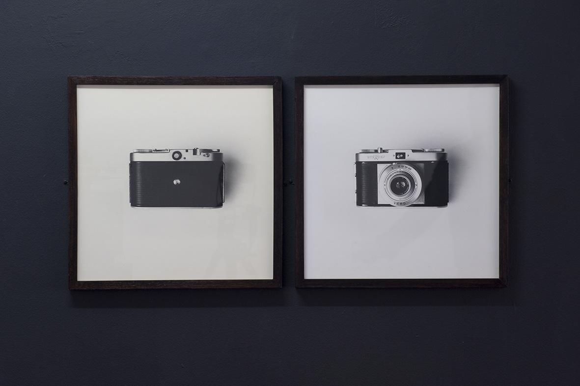 Pinhole Camera, 1990, sténopé réalisé à partir d'un appareil 35 mm, photographie noir et blanc, tirage argentique. Photo : Klaus Stöber