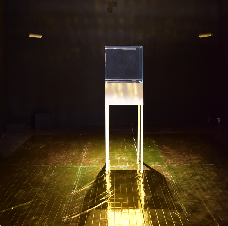 Julien Discrit, Disque d'or – Voyager Live, 2005, installation sonore, dimensions variables, Frac Champagne-Ardenne