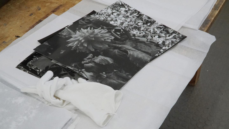 Bénédicte Lacorre, vue d'atelier, résidence à Stuttgart, 2020
