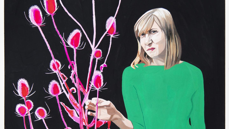 Camille Brès, Emilie éblouie par la lumière lorraine, 2019, gouache sur papier