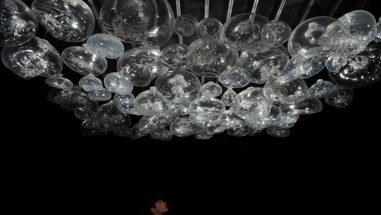 Mathilde Caylou, Là où j'ai attrapé l'air, 2010, Cristal soufflé