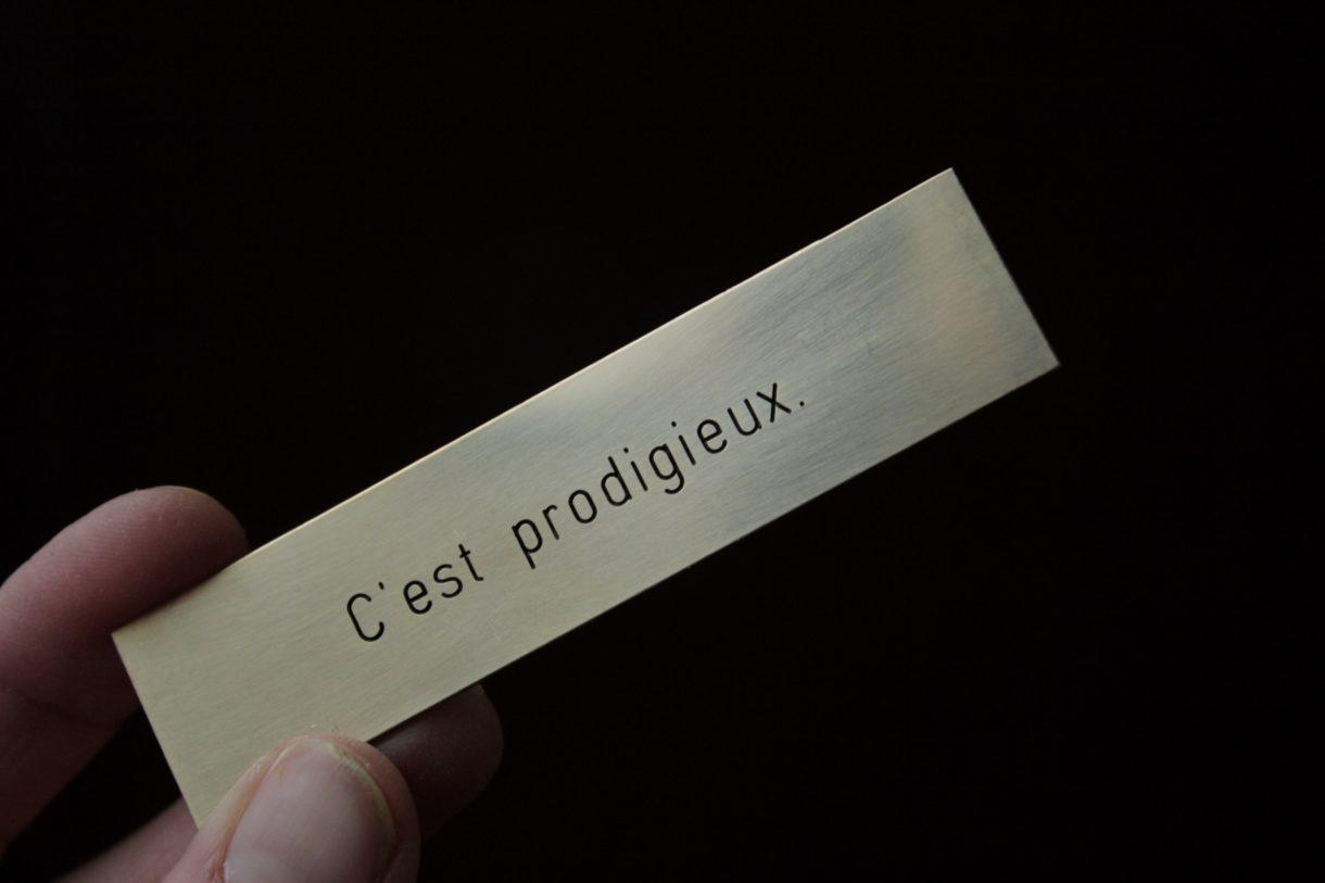 Magali Baribeau-Marchand, Les phrases Kléber, 2019, vue d'exposition, Espace international du CEAAC