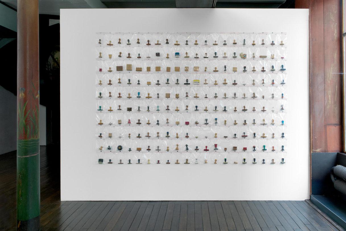 """Jean-Maris Krauth, """"Que faire?"""", vue de l'exposition """"Nouer le reste"""", CEAAC, 2021, ©R. Görgen"""