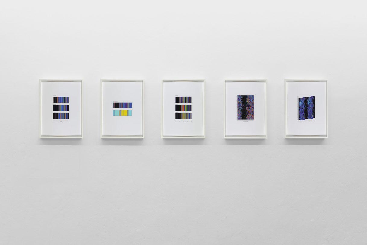 """Susan Morris, """"Actigraphs"""", vue de l'exposition """"Nouer le reste"""", CEAAC, 2021, ©R. Görgen"""
